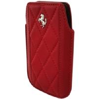 Xperia Miro, Nokia E72, BlackBerry Bold, Huawei Ascend Y200 Ferrari Maranello Kožené Pouzdro Red (EU Blister)