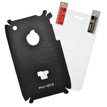 Zadný kožený skin pre iPhone 3G/3GS + ochranná fólia (FO-3G-KOZA